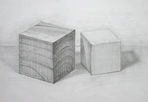 立方体デッサン