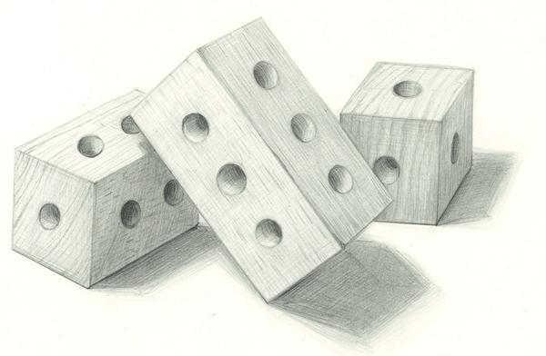 積み木のデッサン