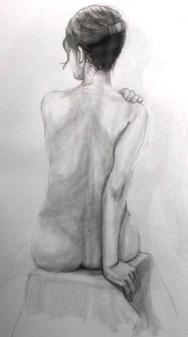 裸婦デッサン 背中