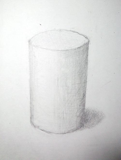 円柱のデッサン