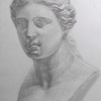 石膏デッサンヴィーナス
