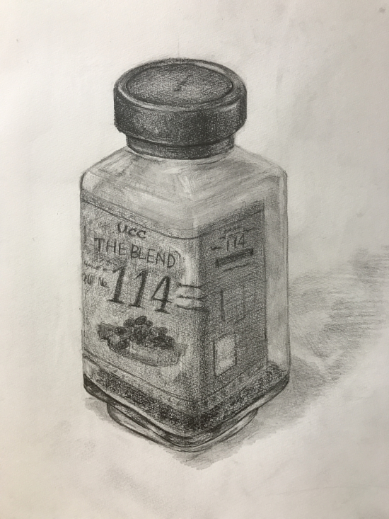 コーヒーの瓶のデッサン