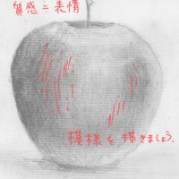 リンゴのデッサン