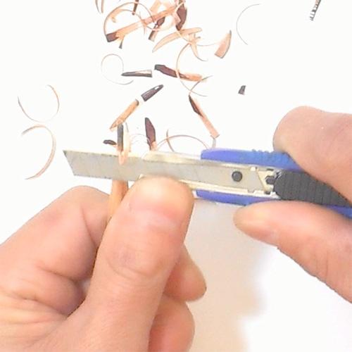 鉛筆の削り方