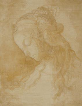 レオナルド-ダ-ヴィンチ、「受胎告知」のための習作
