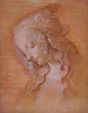 [レオナルド-ダ-ヴィンチ、「受胎告知」のための習作」