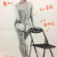 裸婦デッサン