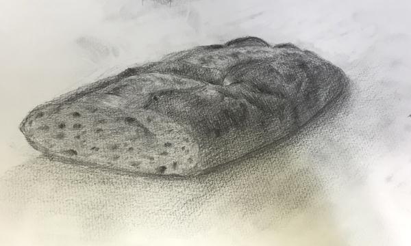 フランスパンのデッサン