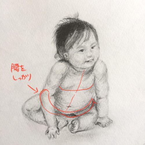 赤ちゃんのデッサン
