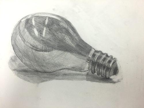 電球のデッサン