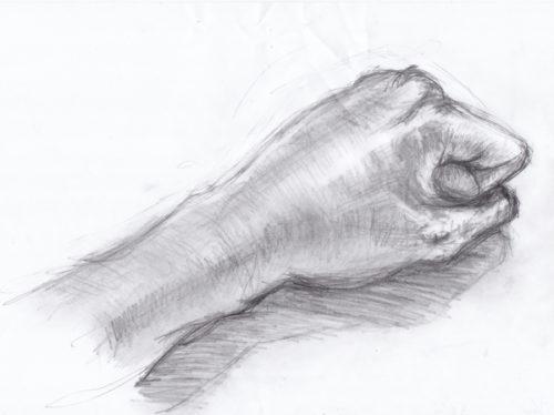 左腕のデッサン