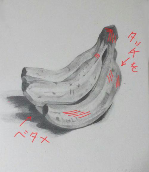 バナナのデッサン