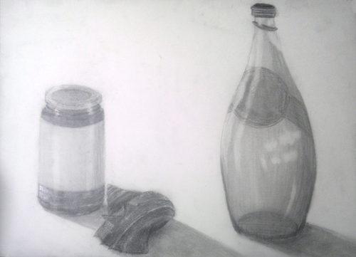 ビンとサザエのデッサン