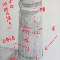 THERMOSの水筒のデッサン