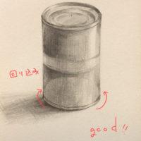 缶詰のデッサン