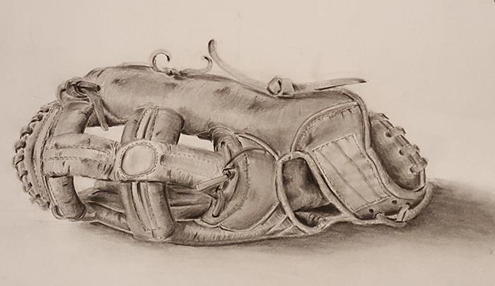 野球のグローブのデッサン