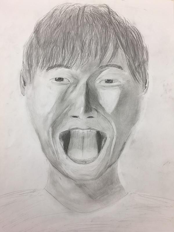 自画像のデッサン