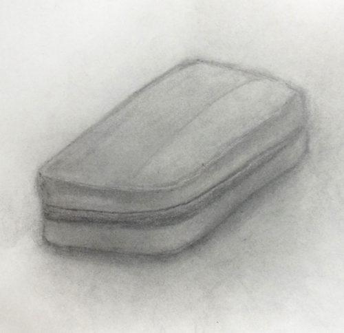筆箱のデッサン