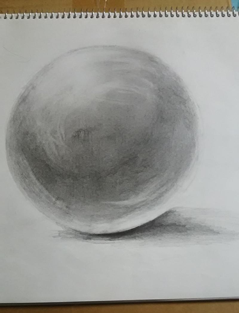 球のデッサン