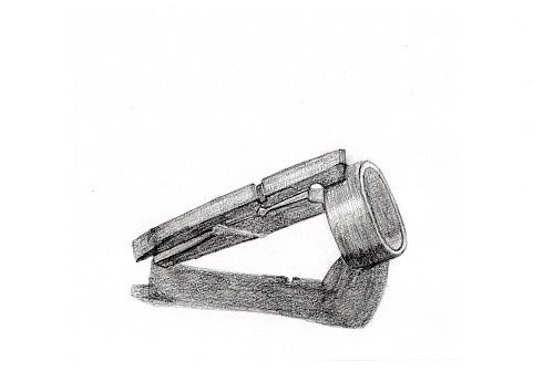 木製クリップとマスキングテープのデッサン