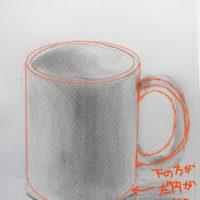 マグカップのデッサン
