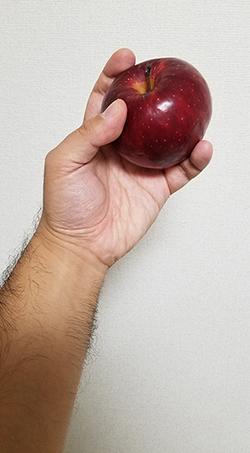手とリンゴのデッサン