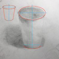 紙コップのデッサン